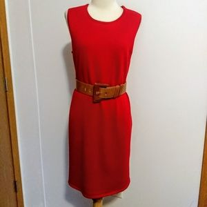 Coldwater Creek red knit dress